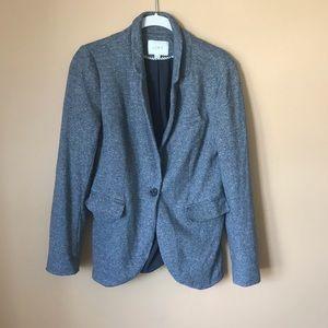 LOFT 100% Cotton Gray Blazer - 1003